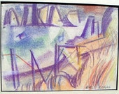 Erle Loran San Francisco Bay  California  painting