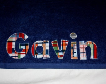 Boys Personalized Towel