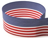 "AMERICAN FLAG Grossgrain 5/8"" Ribbon Roll"