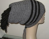Dread Sock Tam Dread Tube in Heather Grey and Black