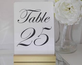 Table Number Holder + Gold Wedding + Gold Table Number Holders- Set of 10 (5inch)
