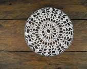 repurposed doily decor ~ framed doily ~