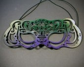 Victoriana mardi gras mask in leather