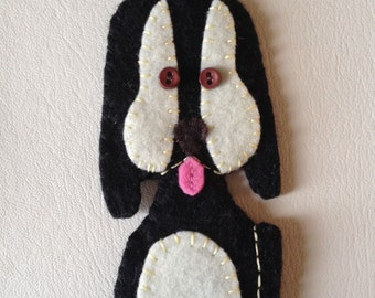 black and creamy pup felty