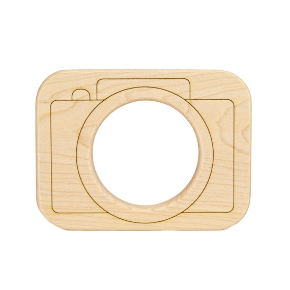 Camera Wood Toy Teether - Play Camera - Wooden Teether - Camera Toy - Baby Teether - Handmade Wooden Toy - Wood Toy Teether -TE35