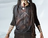 Post Apocalyptic Stained Rune Sleeveless Shirt or T Shirt Choose Your Rune