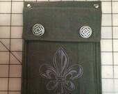 Embroidered Fleur De Lis Belt Pocket —Ready to Ship!