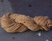 Natural Color Hand Spun Brown  Alpaca Yarn