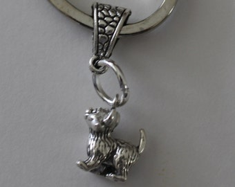 Sterling KITTEN Key Ring, Key Chain - Cat, Feline, Pet