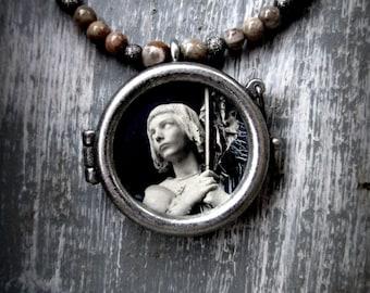 St Joan of Arc Locket Necklace