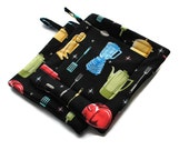 Handmade Quilted Pot Holders  MidCentury Modern Kitchen Tools Set of 2