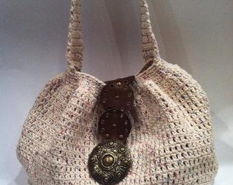 Hand crocheted boho style bag