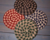 Homespun Scented Coaster ET Trivet  Mug Mat  Special Order Item