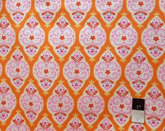 Dena Designs LIDF004 Sunshine Medallion Orange LINEN Fabric 1 Yd
