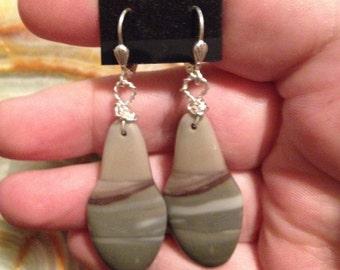 Missouri River Rock Stone Earrings