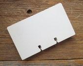 Vintage Rolodex Cards - White - Large 3 x 5 Size - Set of 60