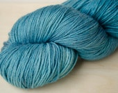 Hand Dyed Sock Yarn - Merino & Silk - Fingering Weight - Gleam - Ocean