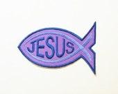 Jesus Fish -Embroidered Applique-100047