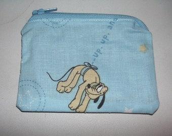 Pluto handmade zipper fabric coin change purse card holder