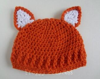 Baby Fox Hat 3-6 Months Beanie