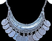 Turkish Belly Dancer's Necklace w/Coin Dangles