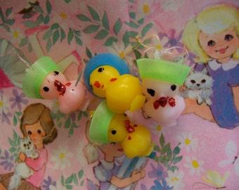 itty bitty plastic chicks