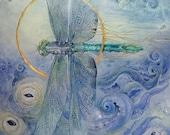Dragonfly print - by Stephanie Law