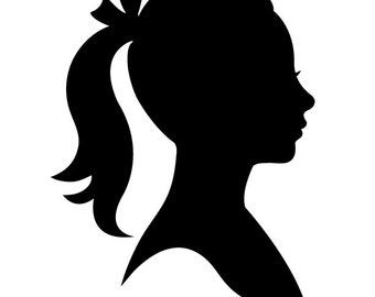 Custom Child Silhouette Made from your photo — Digital/Printable file emailed to you