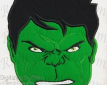 Incredible Hulk and Logo Set  Applique, Avenger Applique Embroidery Design This is NOT A PATCH