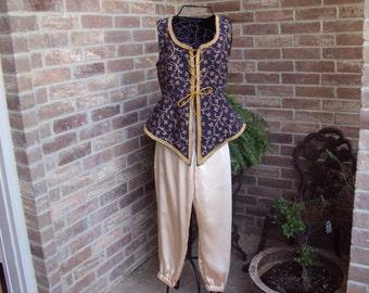 Fantasy costume--boys, girls, small adults--asian, aladdin, Boho, child size 14