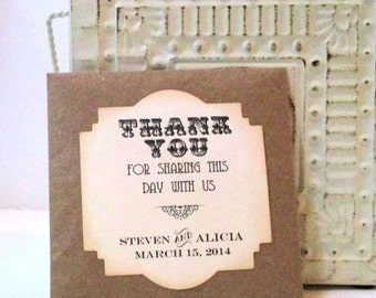 Wedding Favors - Wildflower Seeds - Personalized - Seed Packets - Thank you