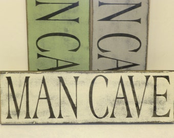MAN CAVE SIGN / hand painted man cave sign / man cave wall decor / sign for man cave / rustic man cave sign / wood man cave sign / man cave