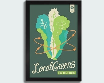 Local Greens - 12x18 screenprint poster