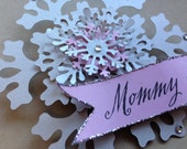 Snowflake Party Favor - Frozen - Snowflake- name badge, party favor - Winter Party, baby shower