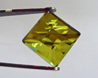 Vintage Swarovski Crystal Sahara 20mm Flat Back Faceted Square Crystal Gem (1)