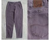 vintage 1980s thistle gray high waist Lee jeans m l