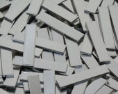 Pewter Stamping Blanks - Tags - 12 Gauge, metal blanks, stamping bars, rectangular blanks, stamping strips, stamping plates, Bopper