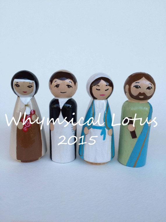 Wooden Saint Dolls