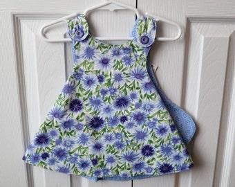 Reversible Sundress - Blue Flowers