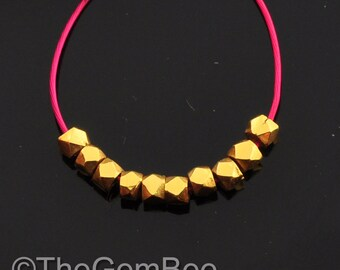 2mm 18k Solid Yellow Gold Handmade Nuggets Findings Beads (10)