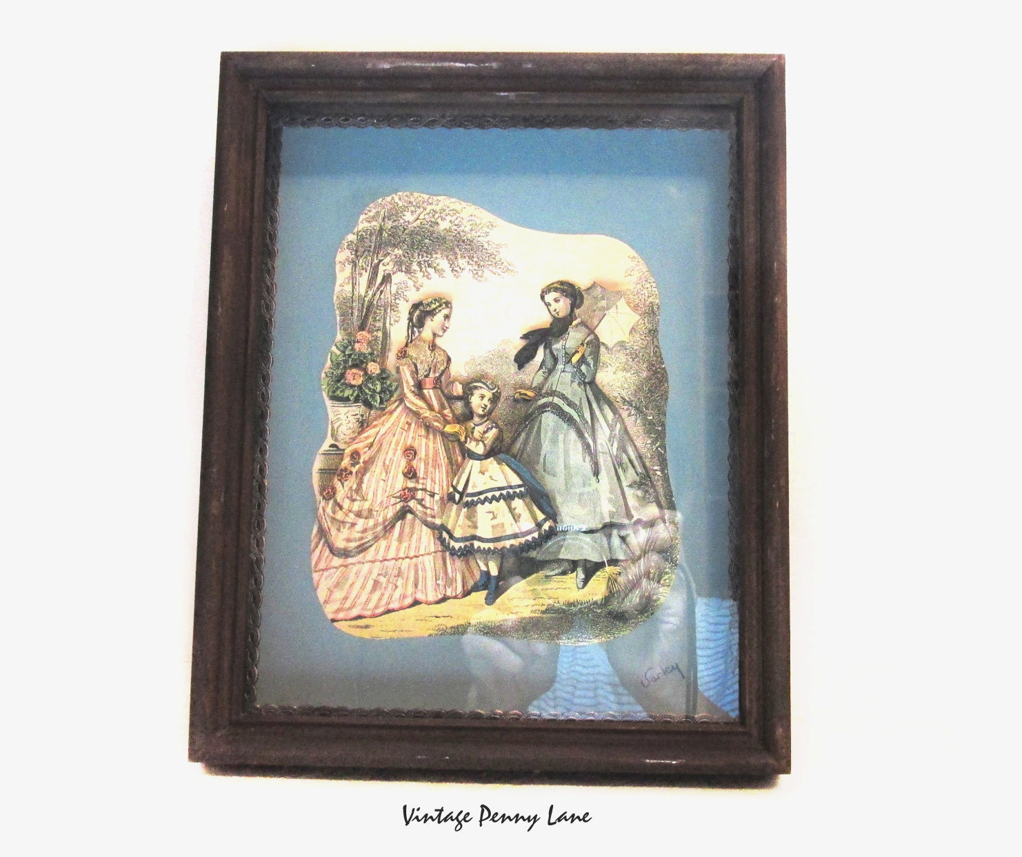 Wall Art Shadow Box : Vintage handmade shadow box d pop up art wall hanging wood