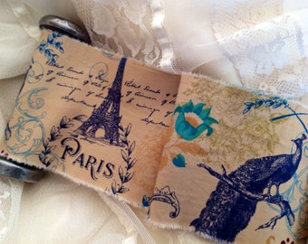 French Inspired Peacock Trim - Eiffel Tower - Pairs