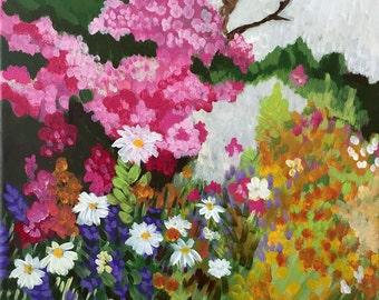 Funky Monet's Spring, Print of Original Painting, Wall Art
