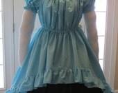 DDNJ Choose Color Short Sleeve Hi Lo Chemise Burlesque OverSkirt Dress Renaissance Pirate Plus Custom Made ANY Size Lolita Anime Costume