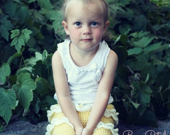 Download Now - CROCHET PATTERN Rose Petal 3-Tier Skirt - Sizes 1-8 Years - Pattern PDF