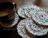 Cotton Coasters, Drink Coasters, 100% Cotton, Housewarming Gift, Hostess Gift, Eco Friendly