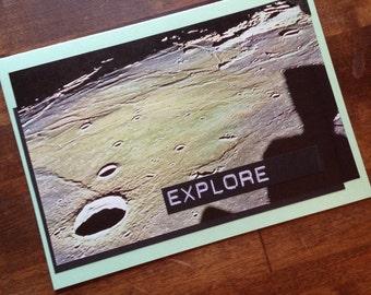 Vintage Space Blank Card