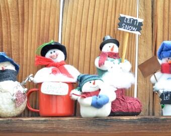 Snowmen ornaments - Secret Santa gifts - Christmas tree ornaments - Merry Christmas