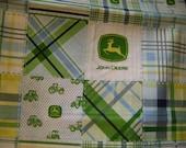 Custom John Deere crib bedding set