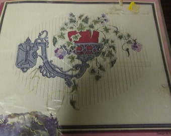Vintage Paragon Crewel Kit Ivy Cascade 0830 Complete and Ready to Stitch